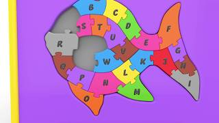 Learn Alphabet with Fish Shape Matching Puzzle