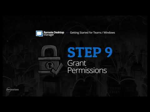 Getting Started for Teams with Remote Desktop Manager - Step 9: Grant Permissions