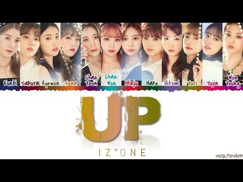 IZ*ONE (아이즈원) - 'UP / ABOVE THE SKY' (하늘 위로) Lyrics [Color Coded_Han_Rom_Eng]