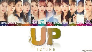 IZ*ONE (아이즈원) - 'UP / ABOVE THE SKY' (하늘 위로) Lyrics [Color Coded_Han_Rom_Eng]