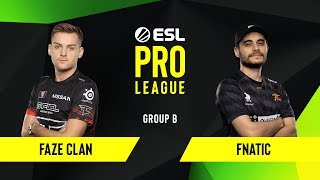 CS:GO - Fnatic vs. FaZe Clan [Train] Map 3 - Group B - ESL EU Pro League Season 10
