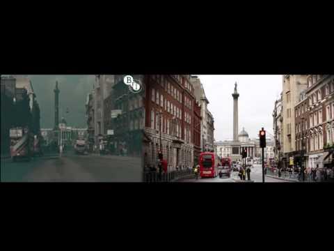 Лондон в 1927 и в 2013 году