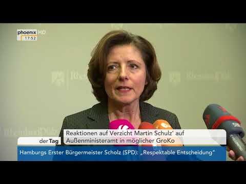 Statements zum Rückzug von Martin Schulz am 09.02.18