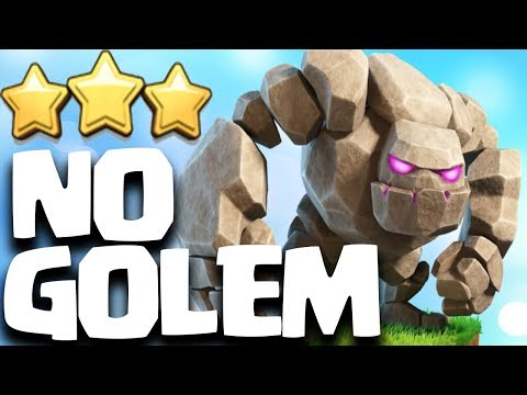 NO GOLEM 3 STAR ATTACK STRATEGY TH9 + TH10 in Clash of Clans