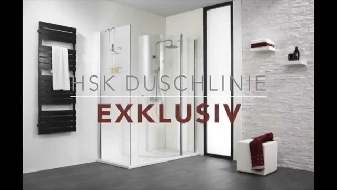 duschkabine duschen hsk exklusiv youtube. Black Bedroom Furniture Sets. Home Design Ideas