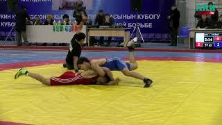 Кубок КР по вольной борьбе: шикарный бросок Алмаза Сманбекова