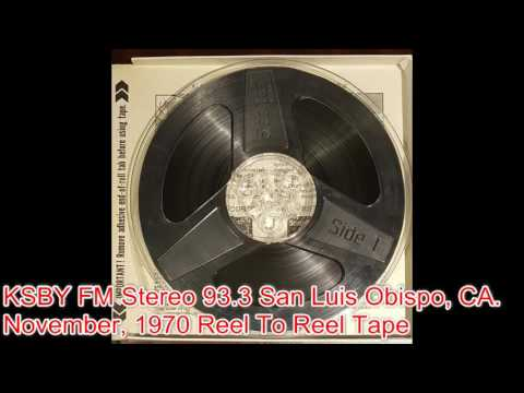 Reel To Reel Tape  -  KSBY FM Radio 93 3 (November 1970) (PT. 2)