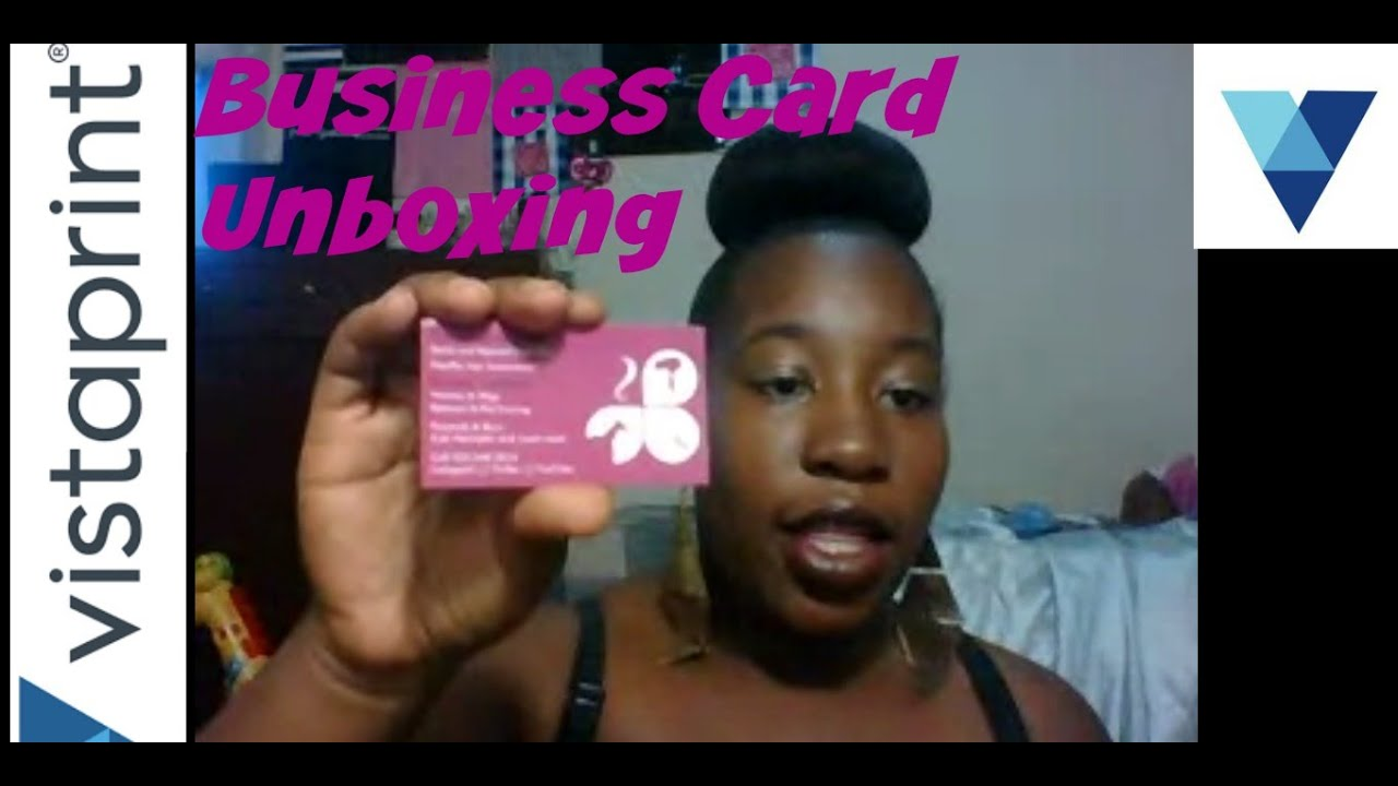 Vistaprint Unboxing   Lets Open My New Business Cards   Chit Chat ...