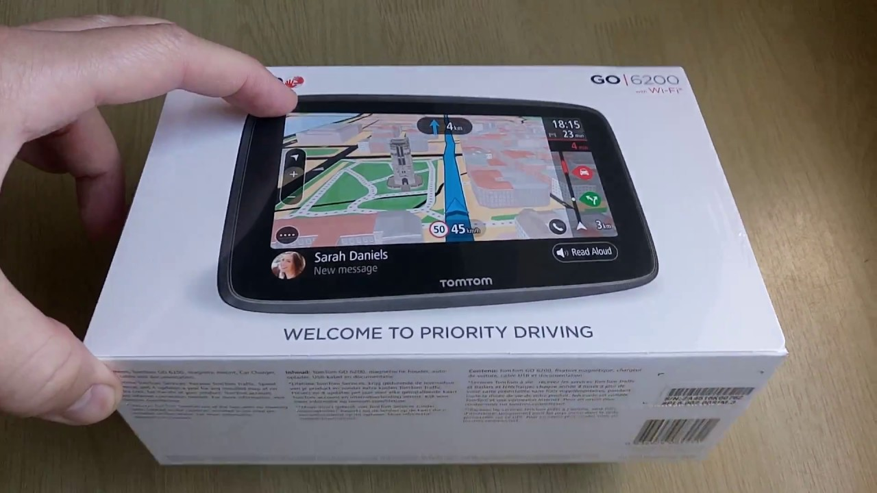 2018 tomtom go 6200 5200 wi fi unboxing youtube