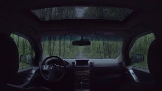 Listening to Relaxing Sounds of Rain on the Car in the Middle of the Forest at Night - Relax & Sleep