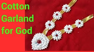 Cotton Swab Garland || Cotton Garland || Kanthi || Cotton Kanthi