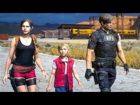 RESIDENT EVIL 2 REMAKE All Endings (Claire & Leon)