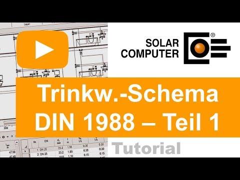 Trinkwasser DIN 1988-300 inkl. Schema-Editor TEIL 1 (allg. Programmaufbau)
