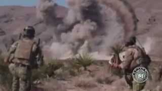 US Army Air Force Fighter Jet Destroying Giant Alien Monster In Desert