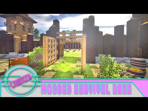 Minecraft: Modded Survival Fort Build - Microblock Gate Design  (Stud Tech Ep.3)