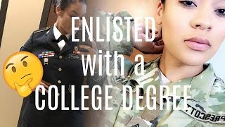 Why I chose to ENLIST with a COLLEGE DEGREE?| #ASKAVET