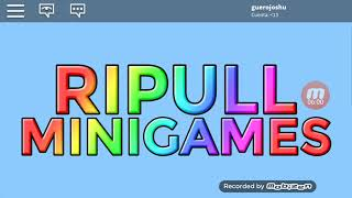 Playing ripull minigames in Roblox Part 2 Ale the Goero