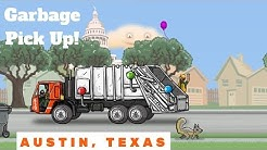 Garbage Truck Pick Up In Austin Texas! l Armadillos, Bats, Smash Trash