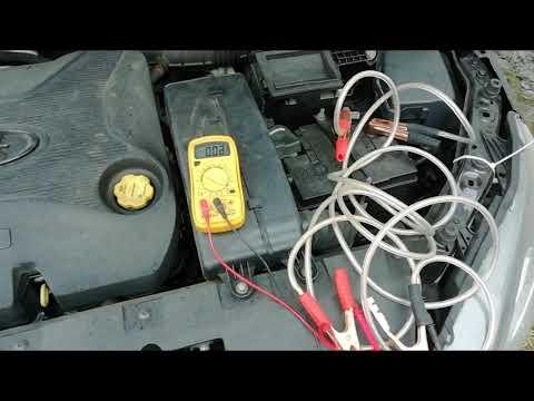 Лада Веста высаживает аккумулятор. Замеряю ток утечки АКБ.