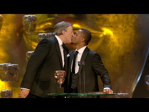 Cuba Gooding Jr and Stephen Fry kiss - The British Academy Film Awards 2015 - BBC One