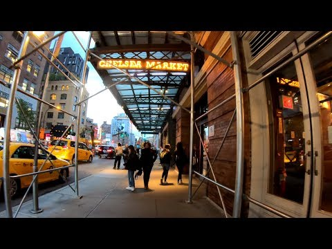 ⁴ᴷ⁶⁰ Walking from the Flatiron Building to Chelsea Market in Manhattan, NYC