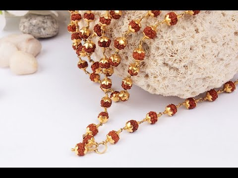 Latest Jewellery Design Collection Rudraksha Mala collection By menjewell.com