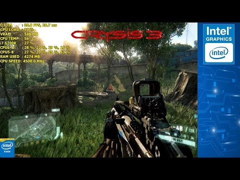 Intel® HD Graphics 530 Crysis 3 Performance Test | i7 6700K 4.5GHz [720p]
