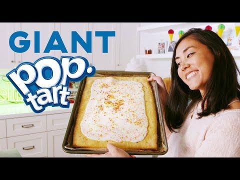 Lo Makes A GIANT Pop-Tart Feeds OVER 16 PEOPLE  Delish  Whoa Lo