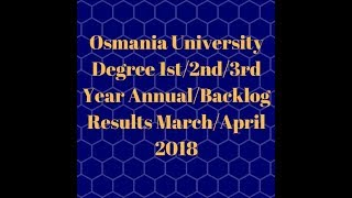 ou degree results 2018 |OU Degree 1st/2nd/3rd Year Results 2018 | Nabadi