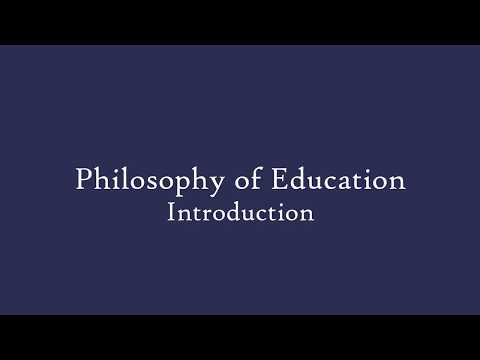 Philosophy Of Education - Introduction