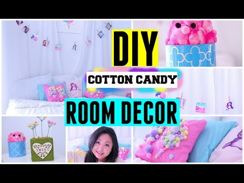 DIY Spring Cotton Candy Room Decor ideas for teens Cute Easy & Cheap for tumblr and pinterest
