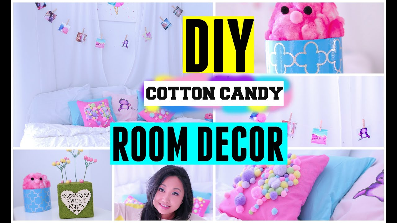diy spring cotton candy room decor ideas for teens cute easy cheap for tumblr and pinterest youtube - Diy Teenage Bedroom Decorating Ideas