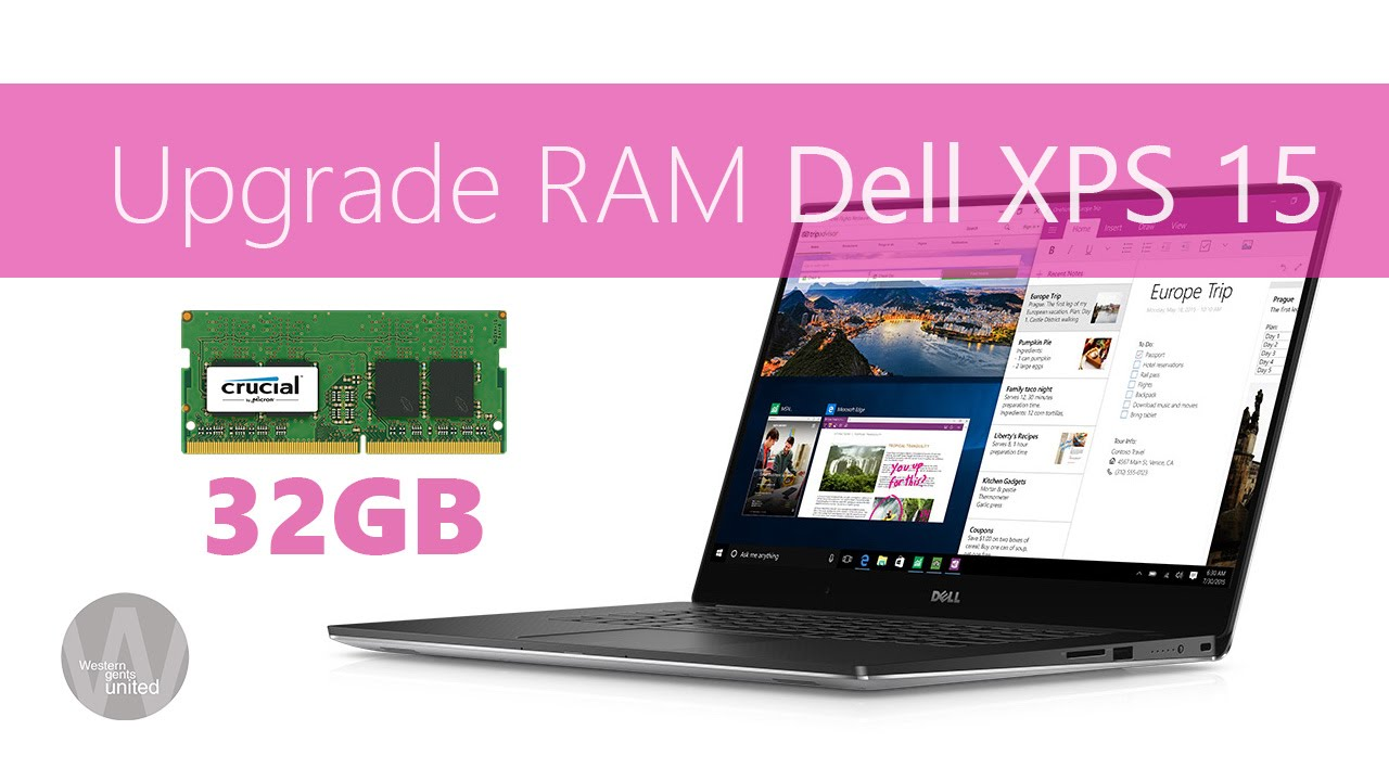Install RAM in Dell XPS 15 9550 or 9560 Kaby Lake Upgrade