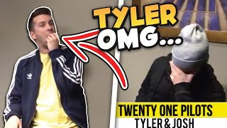 Tyler puts microphone in his mouth during an interview🤦🏼♀️ (Twenty One Pilots funny moments)