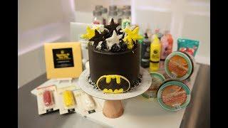 Cómo decorar una Torta de Batman con Buttercream y Glasé PastelAR
