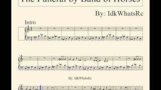 PRINTABLE The Funeral by Band of Horses Music Sheet -Piano Cover-
