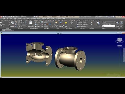 AutoCAD 3D - Globe Valve (body) Tutorial
