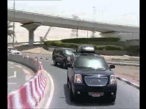 H.H. Sheikh Khalifa & H.H. Sheikh Mohammed touring Dubai's major landmarks