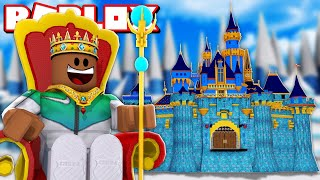 BUILDING MY OWN $1,000,000 ICE CASTLE IN ROBLOX!!