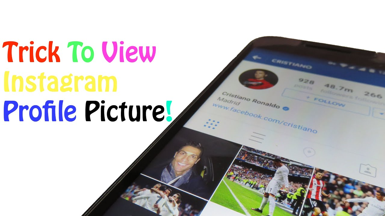 Trick To View Instagram Profile Picture