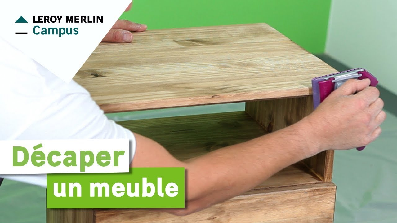 Comment d caper un meuble leroy merlin youtube - Comment decaper un meuble en bois cire ...