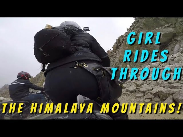 Girl Rides Motorcycles Through The Great Himalaya Mountains Part 1