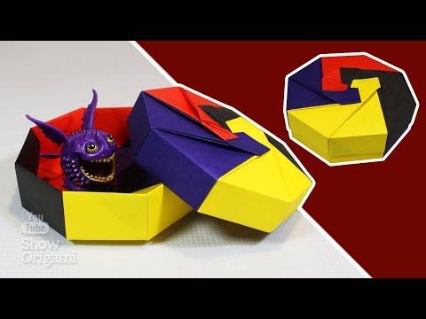простая и красивая оригами коробочка из модулей сделано