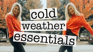 cold weather essentials: clothing, accessories, shoes