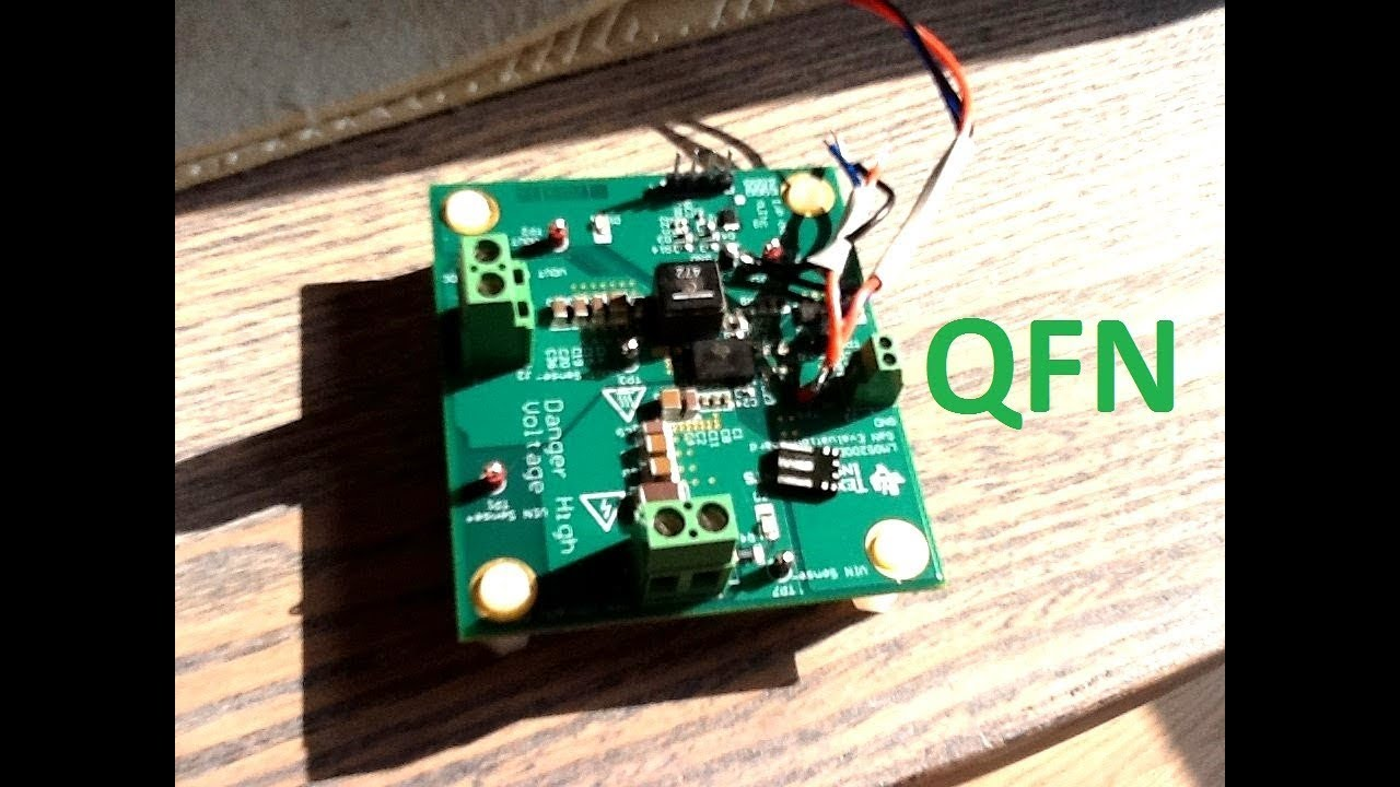 Hand Solder a QFN package: TI LMG5200 GaN device