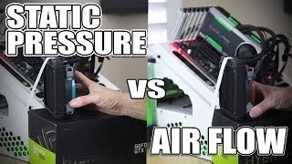 I compared static pressure fan vs airflow fan on a radiator... here is what happened