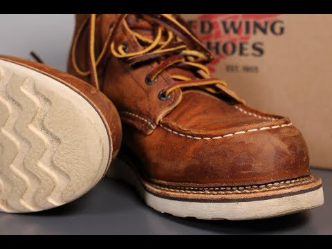 "SIZING & BREAK IN : RED WING ""1907"" Moc Toe Boots"