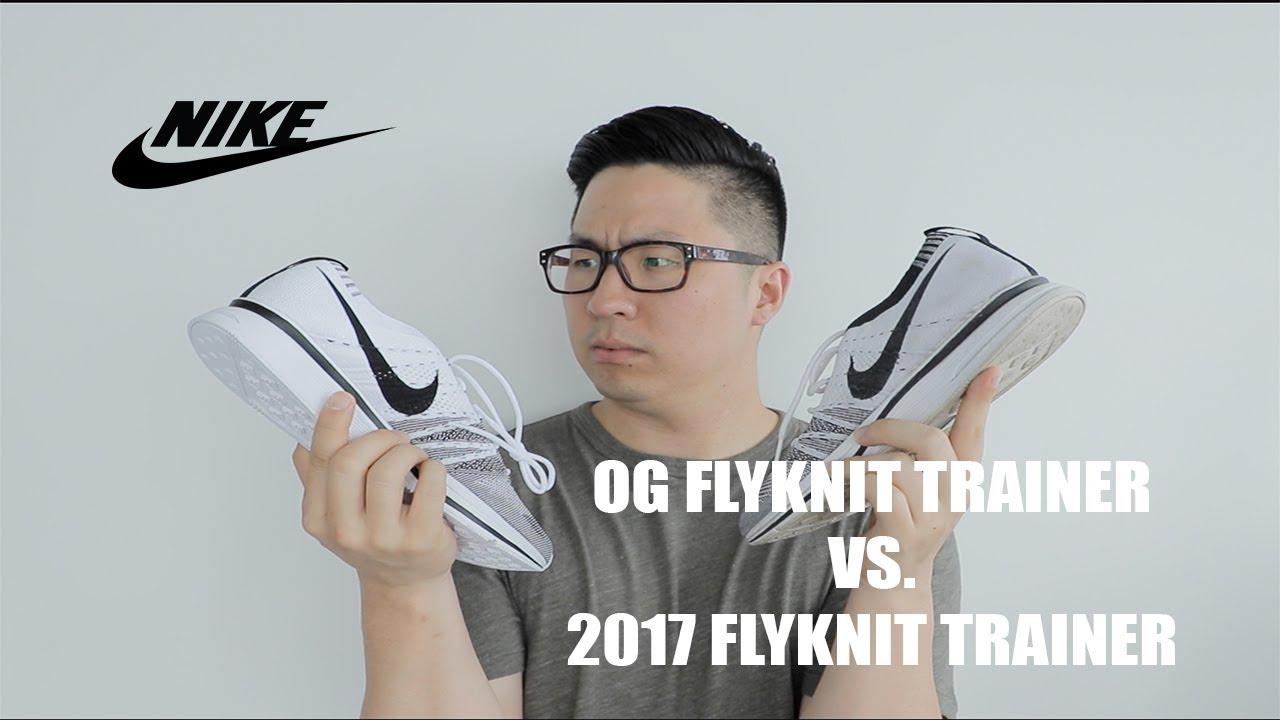 3bab1eef3419 OG Nike Flyknit Trainer vs. 2017 Nike Flyknit Trainer - YouTube