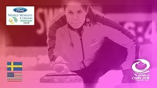 Sweden v United States - Round-robin - Ford World Women's Curling Championships 2018