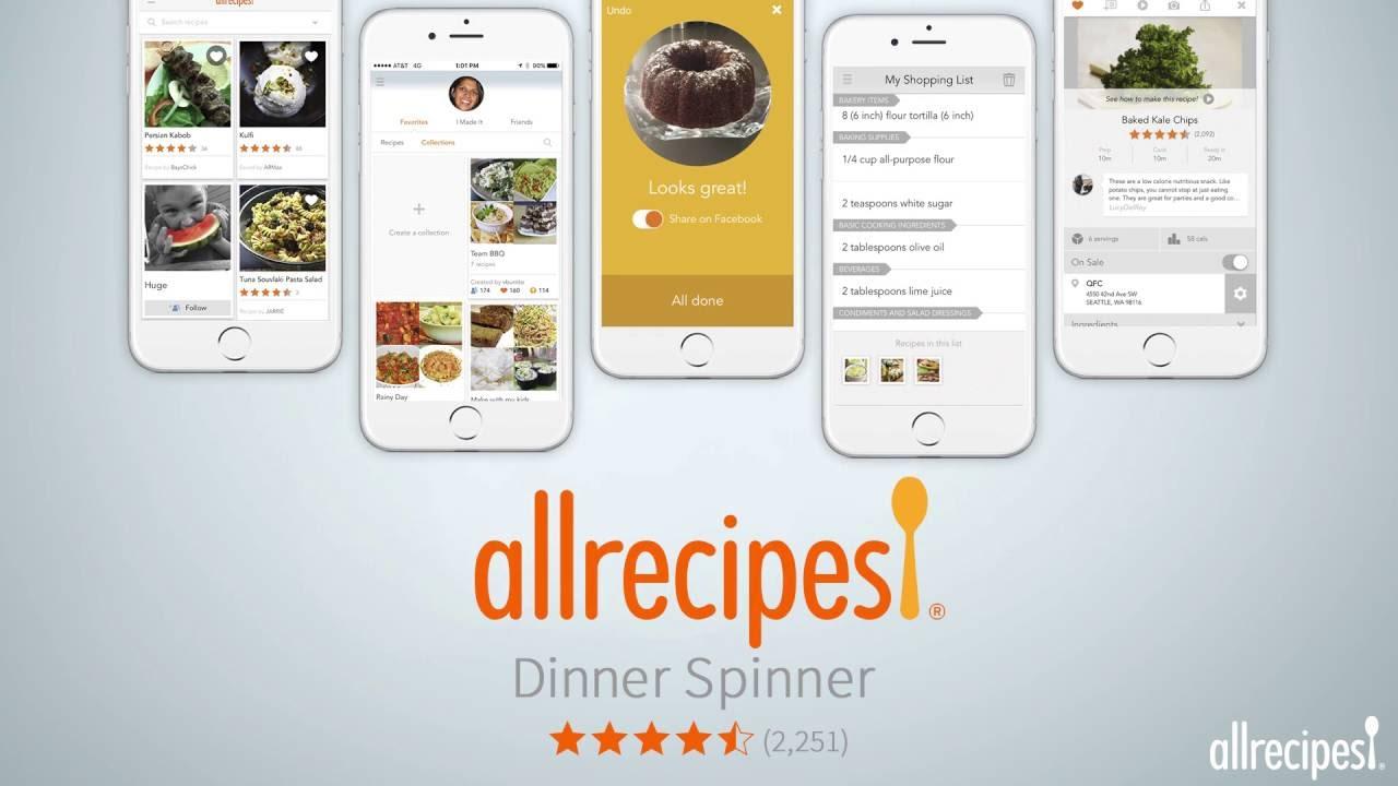 Allrecipes dinner spinner pro